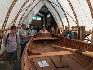 Participants enjoy touring the Northwest School of Wooden Boatbuilding to see the end products of well-managed forest lands.