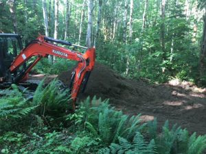 Excavation at Duckabush Riparian Forest Preserve