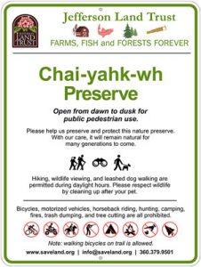 Marrowstone Island Preserve Sign