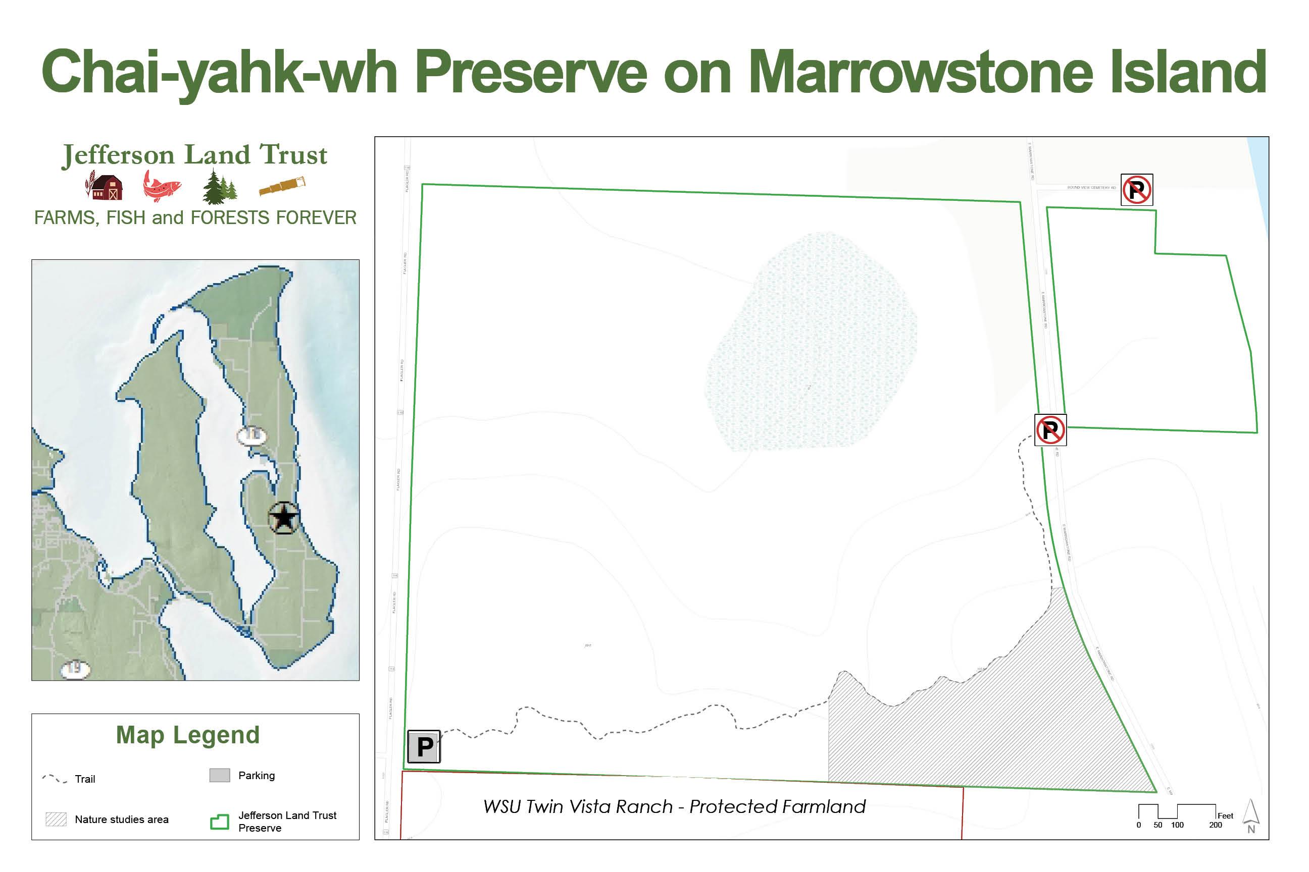 Chai-yahk-wh Preserve Trail Map