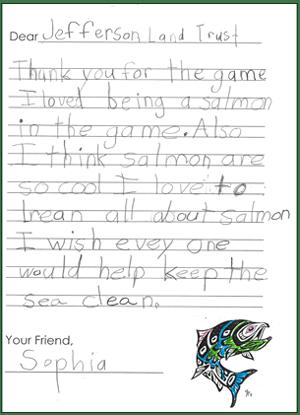 Sophia's TY Letter
