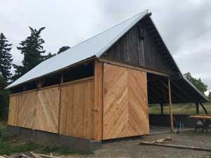 Marrowstone Island barn after construction