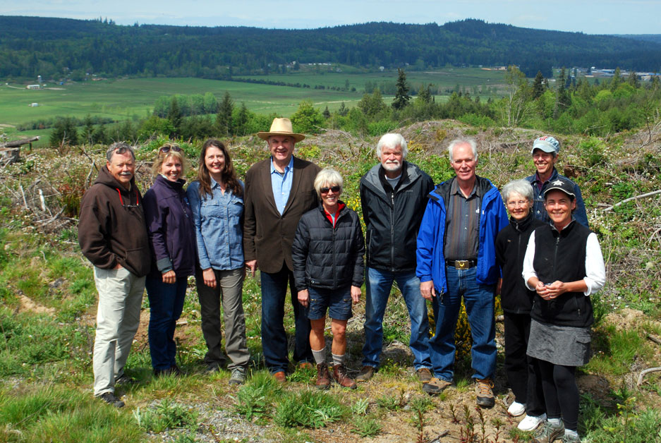 Land Trust 2015 Board of Directors visit to Chimacum Ridge in May of 2015