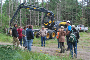 Public tour of forest operations on Chimacum Ridge