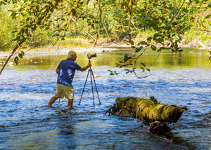 Robert Tognoli in the Duckabush River