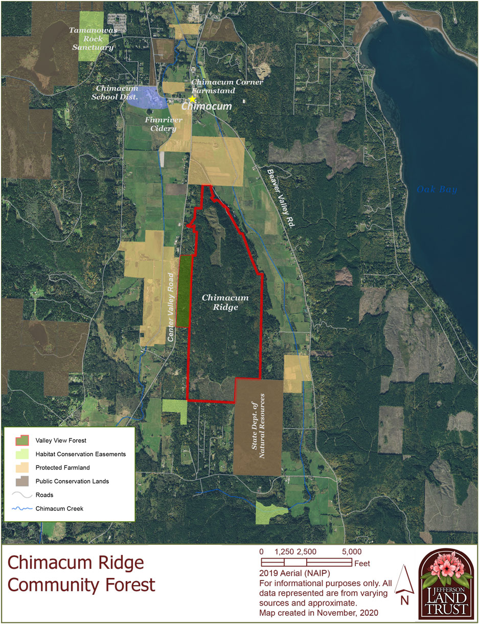 Chimacum Forest Community Map