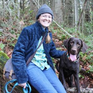 Kristen Gerrish and her dog