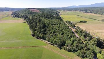 Aerial shot of Chimacum Ridge